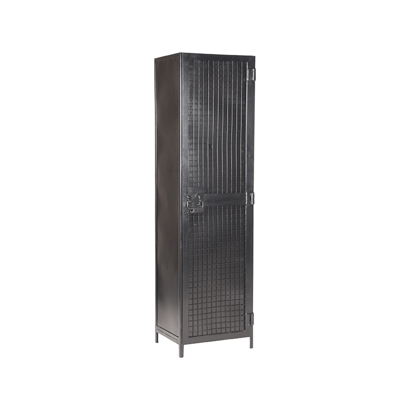 Label51 Hoge Kast Gate Zwart 50 Cm 1 Deur